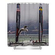 Americas Cup Oracle Team Usa V Artemis Racing Shower Curtain