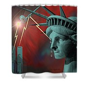 Americas Deepest  Wound  - 100 Shower Curtain by Irmgard Schoendorf Welch