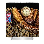 America's Pastime Shower Curtain by Ken Smith