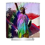 America's Statue Of Liberty Shower Curtain