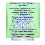 America's Team Poetry Art Poster Shower Curtain by Stanley Mathis
