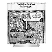 Amerigo Vespucci, 1505 Shower Curtain