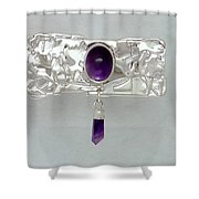 Amethyst Caverns Shower Curtain