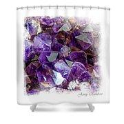 Amethyst Crystals 1. Elegant Knickknacks Shower Curtain