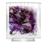 Amethyst Crystals. Elegant Knickknacks From Jenny Rainbow Shower Curtain