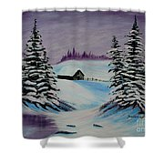 Amethyst Evening After Ross Shower Curtain