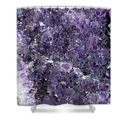 Amethyst Geode II Shower Curtain