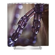 Amethyst  Shower Curtain by Rona Black
