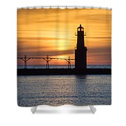Amiable Awakening Shower Curtain