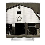 Amish Barn And Buggies Shower Curtain