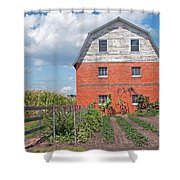 Amish Barn And Garden Shower Curtain