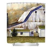 Amish Barn Shower Curtain
