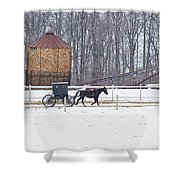 Amish Buggy And Corn Crib Shower Curtain