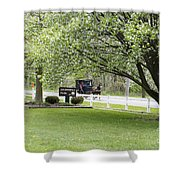 Amish Buggy At Riverbend Park Shower Curtain