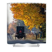 Amish Buggy Fall 2014 Shower Curtain