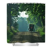Amish  Buggy Gravel Road Shower Curtain