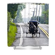 Amish Buggy In Lancaster County Pa. Shower Curtain