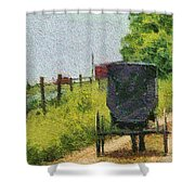 Amish Buggy In Ohio Shower Curtain