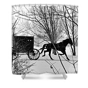Amish Buggy Revised Shower Curtain