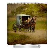 Amish Buggy Ride Shower Curtain