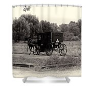 Amish Buggy Sept 2013 Shower Curtain