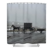 Amish  Buggy Winter Day Shower Curtain