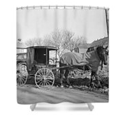 Amish Carriage, 1942 Shower Curtain