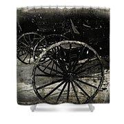 Amish Cart Wheels Grunge Shower Curtain