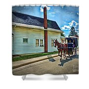 Amish Country Ride Shower Curtain
