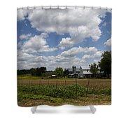 Amish Farm Landscape Shower Curtain