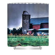 Amish Farming 2 Shower Curtain