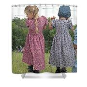 Amish Girls Having Fun Shower Curtain
