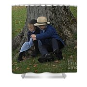 Amish Kids Shower Curtain by R A W M