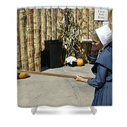 Amish Making Apple Butter Shower Curtain