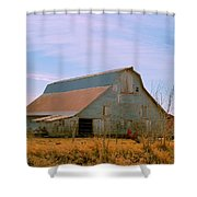 Amish Metal Barn Shower Curtain