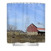 Amish Panorama Shower Curtain