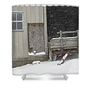 Amish Snowfall Shower Curtain
