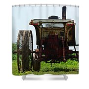 Amish Tractor Shower Curtain