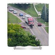 Amish Traffic Jam Shower Curtain