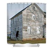 Amish Window Washer Shower Curtain