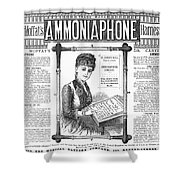 Ammoniaphone, 1885 Shower Curtain