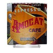 Amocat Cafe Shower Curtain