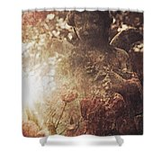 Among Angels Shower Curtain