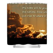 Among Nations Shower Curtain