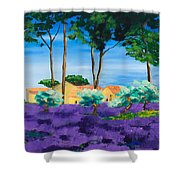Among The Lavender Shower Curtain