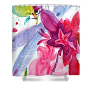 Among The Peonies Shower Curtain