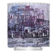 Among The Ruins Shower Curtain