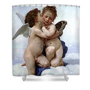 Amor And Psyche  Shower Curtain by Munir Alawi