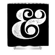 Ampersand Poster Black Shower Curtain