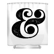 Ampersand Poster White Shower Curtain
